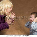 mom yelling at son